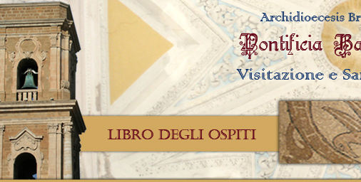 libro degli ospiti pontificia basilica cattedrale